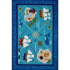 LA Rug, Olive Kids Pirates! Multi Colored 19 in. x 29 in. Area Rug, OLK 055 1929 at The Home Depot - Mobile