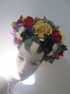 Mexican Inspired floral head dress