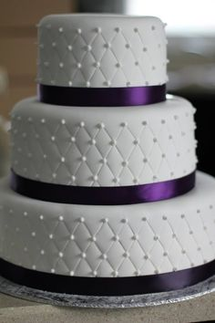 Wedding cakes purple buttercream ribbons 32 trendy Ideas wedding cakes cakes elegant cakes rustic cakes simple cakes unique cakes with flowers Purple Cakes, Purple Wedding Cakes, Wedding Cake Photos, Themed Wedding Cakes, Amazing Wedding Cakes, Elegant Wedding Cakes, Wedding Cake Designs, Wedding Desserts, Cake Wedding