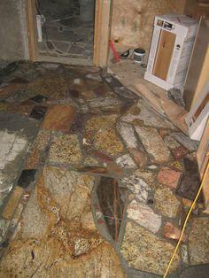 granite mosaic floor