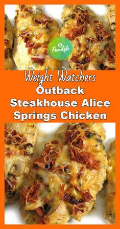 Skinny Comfort Food Recipes without worrying about the calorie counts Outback steakhouse alice springs chicken – weight watchers freestyle Weight Watcher Dinners, Weight Watchers Snacks, Poulet Weight Watchers, Plats Weight Watchers, Weight Watchers Meal Plans, Weight Watchers Points Plus, Weight Watchers Chicken, Weight Watchers Recipes With Smartpoints, Weight Watchers Lasagna