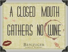 a closed mouth gathers no wine