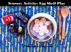 Using Egg Shells for Sensory Play