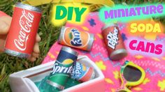 DIY American Girl Doll Soda Pop Cans. I crafted these DIY American Girl Doll Soda Cans. This fun doll craft is easy to make. We made these American Girl Doll Soda Cans the right size for our dolls to drink. We made doll Coca Cola, Sprite, Fruit Punch, Dr. Casa American Girl, American Girl Food, American Girl Crafts, American Girl Doll Things, Crafts For Girls, Diy For Girls, Ag Doll Crafts, American Girl Accessories, Doll Accessories