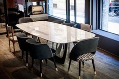 Colette by Baxter Baxter Furniture, Led Furniture, Furniture Dining Table, Dining Chairs, Dining Nook, Dinning Table, Dining Room Design, A Table, Diner Table