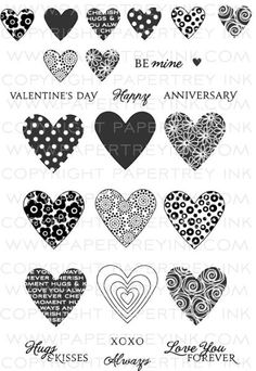 Heart Prints Die Collection (set of Papertrey Ink Clear Stamps Dies Paper Ink Kits Ribbon Valentine Heart, Valentines, Valentine Ideas, Scrapbook Supplies, Scrapbooking, Ink Stamps, Heart Cards, Heart Print, My Stamp