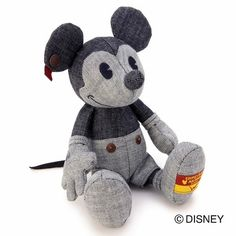 Mickey mouse Stuffed toy color denim ( Limited rare ) Walt Disney