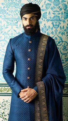 Sherwani For Men Wedding, Wedding Dresses Men Indian, Wedding Dress Men, Wedding Men, Punjabi Wedding, Indian Weddings, Farm Wedding, Wedding Outfits For Men, Wedding Couples