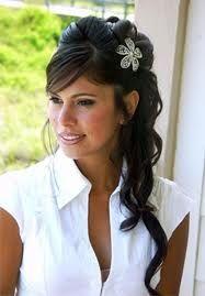 Down wedding hair