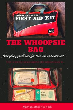 One of my biggest and best go to items, whether at the park, on the road, at the camp ground, on the trail, or at home is my first aid kit. I don't fancy the store bought ones...