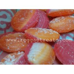 """Old time Jamaican  """"Paradise Plum""""  - not seen much any more but was one of my favorite sweeties as a child. One side sweet, the other side tart and sugar sprinkles."""