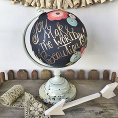 Custom handpainted globe by HelloShoppe on Etsy