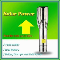solar powered submersible deep water well pump Beijing Olympic use Feili Pump solar pump Solar Powered Water Pump, Solar Powered Lights, Deep Well Submersible Pump, Water Pump System, Deep Well Pump, Used Solar Panels, Beijing Olympics, Solar Energy System, Shower Systems