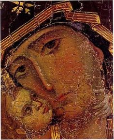 detail of the Vladimir Mother of God icon Religious Images, Religious Icons, Religious Art, Byzantine Icons, Byzantine Art, Madonna, Miséricorde Divine, Saint Esprit, Russian Icons