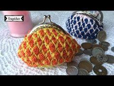 (1) Monedero en punto Marroquí CROCHET - YouTube