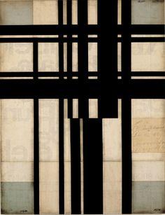 2007, Robert Kelly Tropos Vagabunden VIII  Acrylic and collage on panel 89 x 72 cm