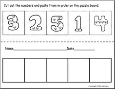 Cut + Paste Number Sequencing 1-30