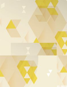 Modern Geometric Pattern with chartreuse (color)   /// This print!
