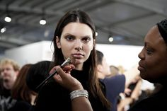 The beauty backstage at Givenchy's Spring 2016 show was bold and eccentric. See more from Fashion Week on wmag.com.