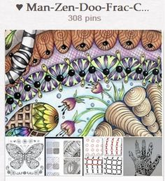 ♥ Man-Zen-Doo-Frac-Col ♥  ♥ Mandalas-Zentangles-Doodles-Fractals-Coloring ♥ by Paula Sue Paxton http://pinterest.com/peasioux/man-zen-doo-frac-col/