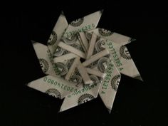 Picture of Transforming Money Flying Disc (dollar bill origami) http://www.papercraftsquare.com/transforming-money-flying-disc-origami-instruction.html