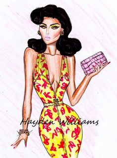 Hayden Williams Drawings | ART OF FASHIONS... / 'Tropical Getaway' by Hayden Williams pt4