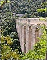 Spoleto, the bridge Ponte delle Torri