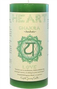 HEART CHAKRA Meditation candle Crystal Journey CANDLES Pillar ANAHATA Love