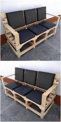 There are some homes where simple and non-classic wooden pallets furniture does not the look : Wooden Pallets Furniture: pallets :DIY projects :DIY