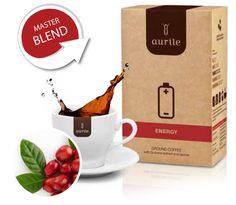 Stimuliuojantis taurinas ir B grupės vitaminų kompleksas, kuriais praturtinta mūsų kava, mažina  nuovargio jausmą ir pagerina psichines ir fizines  organizmo funkcijas. Didesnis guaranoje esantis  kofeino kiekis didina žvalumą ir suteikia energijos  visai dienai. Aurile Energy padės kitaip pažadinti  Jūsų kūne slypinčią galią.