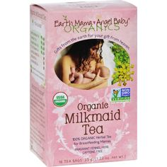 Earth Mama Angel Baby Organic Milkmade Tea - 16 Tea Bags - USDA Certified 100% Organic Non-GMO Project Verified and Certified Kosher Organic Milkmaid Tea is a fragrant and comforting blend of organic herbs traditionally used by nursing mothers to help support healthy breast milk production and promote healthy lactation. Blended with traditional herbal galactagogues like organic Fennel seed and mineral packed herbs Organic Milkmaid Tea helps keep breast milk flowing and is tasty iced or hot…