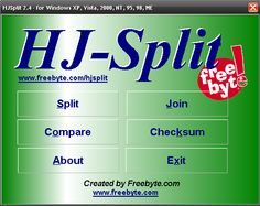 HJSplit – program do łączenia i dzielenia plików iso, rar, avi