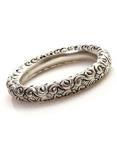 East Engraved Metal Bangle