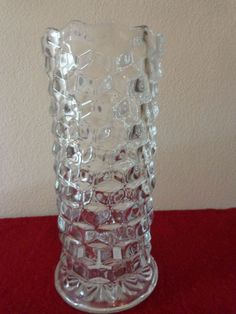 """Vintage Fostoria American 10"""" Crystal Straight Sided Vase, Excellent Condition…"""