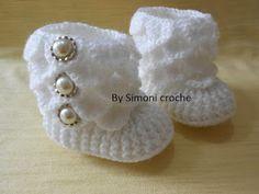 Simoni crochê: Botinha de crochê para bebe