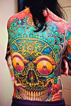 Skull Full Back Tatt