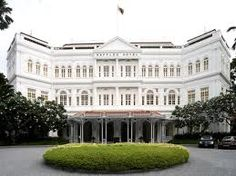 Raffles Hotel, Home of the Singapore Sling, the pool table under which someone once shot a tiger, and notes of Kipling, Maugham,  and others.  We had high tea, which was really just a wonderful Sunday buffet. Mixture of foods. Great flan and cucumber sandwiches (not really so fond of these!). I remember if I got up they held your napkin til you came back to table and placed it in your lap. Tres chic!