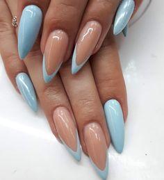 Classy Acrylic Nails, Acrylic Nails Coffin Short, Almond Acrylic Nails, Almond Nail Art, Stiletto Nail Art, Almond Shape Nails, Stiletto Nail Designs, Summer Acrylic Nails Designs, Short Almond Shaped Nails
