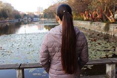 Ponytail Scrunchie, Scrunchies, Sasuke, Braids, Dreadlocks, China, Long Hair Styles, Lady, Modern
