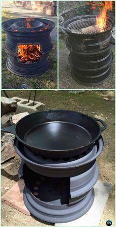 DIY Car Rim BBQ Grill Instruction [Video] - DIY Backyard Grill Projects