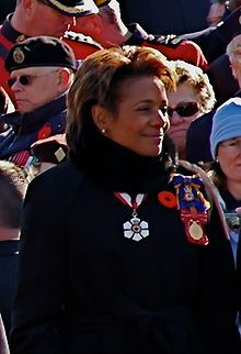 Michaëlle Jean was a refugee from #Haiti, coming to #Canada in 1968, and was raised in the town of Thetford Mines, #Quebec. After receiving a number of university degrees, Jean worked as a #journalist and #broadcaster for Radio-Canada and the Canadian Broadcasting Corporation (#CBC), as well as undertaking charity work, mostly in the field of assisting victims of domestic violence. In 2005, she was appointed governor general by Elizabeth II, #Queen of Canada.