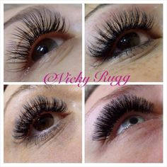 4 styles of lashes Classic 2D Volume Hollywood