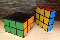 Rubik's Cube Seat/Table/Storage