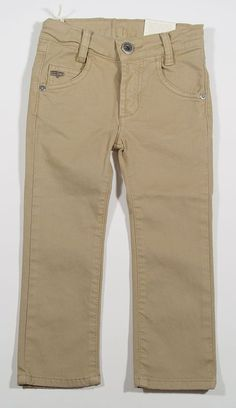 Eddie Pen Straight Leg Cotton Pants in Khaki