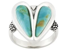 Southwest Style By Jtv(Tm) Fancy Cabochon Turquoise Sterling Silver Heart Ring