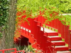 Red Bridge - Dow Gardens - Midland, MI