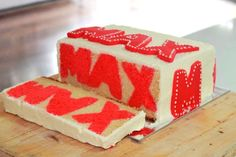 A Moment with Madam Meko: Boo! It's a name cake!Name cake peekaboo cake… Cakes To Make, How To Make Cake, Cake Cookies, Cupcake Cakes, Cake Icing, Rice Crispy Cake, Surprise Inside Cake, Cake Hacks, Soccer Cake