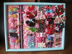 I did it!  I made my own hair bow organizer for under $2.  Sophie's bows are now organized!