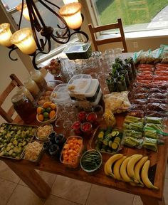 Massive Food Prepping Table http://cleanfoodcrush.com/massive-food-prep GREAT WEBSITE FOR CLEAN EATING