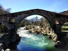 Beautiful bridge in Cangas de Onis, Spain. (c) GTH & Nathan DePetris